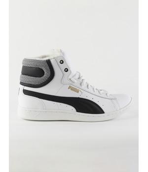 Boty Puma Vikky Mid Fur White- Black Bílá 21634ebac9