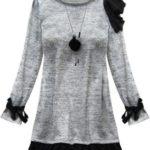 Světle šedé šaty s volánky (167ART)