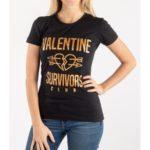 Tričko Valentine Survivors Club Černá