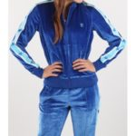 Bunda Converse Miley Cyrus Velvet Track Jacket Modrá