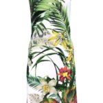 Dámské šaty Jasina zeleno-bílá – Favab