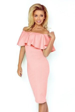 bdcb82abeada Dámské šaty ve španělském stylu v pastelově růžové barvě 138-8 ...