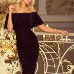 Matné černé dámské šaty ve španělském stylu 138-7