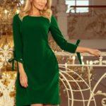 Světle zelené dámské šaty s mašlemi 195-7 ALICE