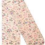 Ponožky s potiskem světle modro-růžových květinek 14