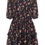 Černé dámské šifonové šaty s volánky (297ART)