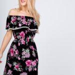 Dámské květované šaty ve španělském stylu
