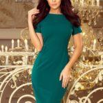 DOROTA – Elegantní zelené dámské šaty 150-4