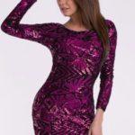 Fialové šaty EVA&LOLA 10010-3