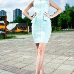 Mátově zelené šaty bez rukávů 3507-2