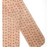 Ponožky s potiskem drobných červených květů 13