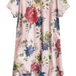 Bavlněné dámské oversize šaty v pudrově růžové barvě (341ART)