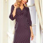 Černé dámské puntíkované šaty s nadýchanými rukávy 243-1