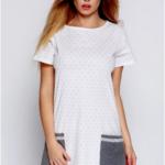 Dámská noční košilka Lou bílo-šedá – Sensis