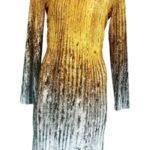 Dámské šaty Duna s barevným potiskem a Swaroski kamínky – Favab