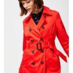 Moodo Kabát dámský s dvouřadovými knoflíky a páskem