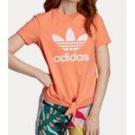 Tričko adidas Originals Trfl Tee Kntd Oranžová
