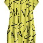 Citronově žluté bavlněné šaty oversize (408ART)