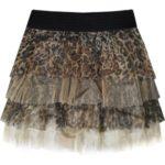 Hnědá mini sukně s panteřím vzorem (382ART)