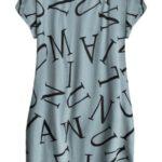 Modré bavlněné šaty oversize (408ART)