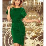 Numoco šaty dámské ZELIKA s krátkým rukávem a páskem