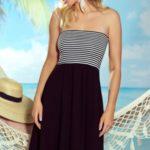 Plážová tunika Sandy black-white
