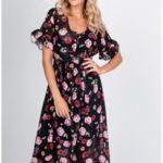 Dámské maxi šaty s barevnými květy