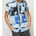 Košile O´Neill Lm Allover Flowal S/Slv Shirt Modrá