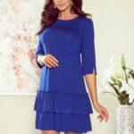 SUSAN – Dámské šaty v chrpové barvě s volánky 257-1