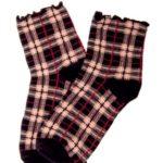 Dámské ponožky Magnetis SK-101 Károvaný vzor