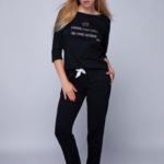 Dámské pyžamo Lin černá – Sensis