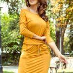 Dámské sportovní šaty v medové barvě 13-112