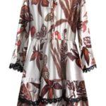 Šifonové šaty v ecru barvě s volánky (452ART)