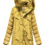 Žlutá bunda z různých spojených materiálů (7708)