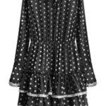 Černé puntíkované šaty (472ART)