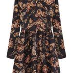 Černé rozšířené dámské šaty se stojáčkem  (469ART)