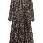 Černo-béžové šifónové dámské midi šaty (462/1ART)