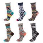 Netlačící dámské vzorované ponožky Soxo 39049