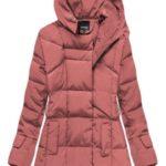 Růžová bunda s kapucí a kapsami (X1266X)