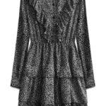 Černé dámské šaty s volánky (490ART)