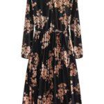 Černé dámské šifónové midi šaty (492ART)