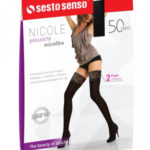Dámské samodržící punčochy Sesto Senso Nicole 50 den