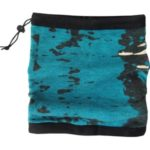 Komínová šála 2v1 v mořské akvamarínové barvě se vzorem (X2006X)