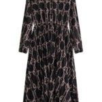 Černé dámské šifonové midi šaty (462/2ART)