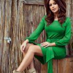 JENNY – Pohodlné zelené dámké šaty se zavazováním v pase 275-4