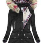 Černá zimní bunda s kapucí (39911)
