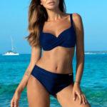 Dvoudílné plavky Esther tm. modré
