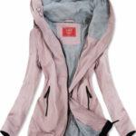 Lehká růžová bunda parka (TLR201)