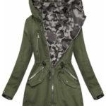 Oboustranná bunda parka v army-moro barvách s kapucí (W306BIG)
