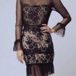Černé dámské šaty SOKY SOKA 56004-1